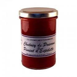 Chutney de poivrons au piment d'espelette 220 g Les arômes méditerranéens Epicerie fine, condiments, sauces et apéros