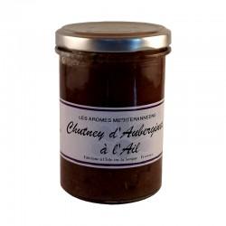 Chutney d'aubergines 220 g Les arômes méditerranéens Epicerie fine condiments, sauces et apéros
