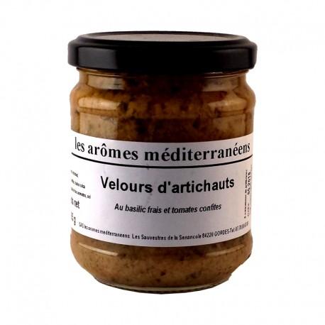 Velours d'artichauts au basilic frais et tomates confites 185 g Les arômes méditerranéens Epicerie fine, condiments, sauces et a