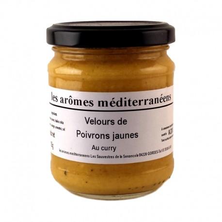 Velours de poivrons jaunes au curry 185 g Les arômes méditerranéens Epicerie fine, condiments, sauces et apéros