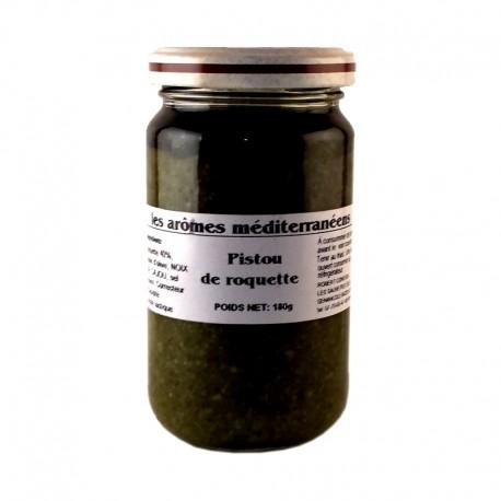 Pistou de roquette 180 g Les arômes méditerranée Epicerie fine, condiments, sauces et apérosns