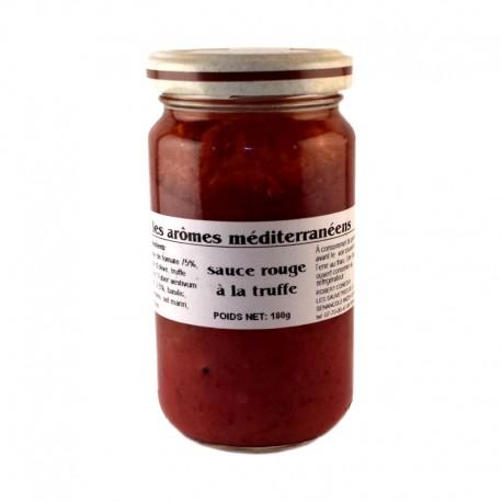 Sauce rouge à la truffe 180 g Les arômes méditerranéens Epicerie fine condiments, sauces et apéros