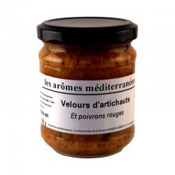 Velours d'artichauts et poivrons rouges 185 g Les arômes méditerranéens Epicerie fine, condiments, sauces et apéros