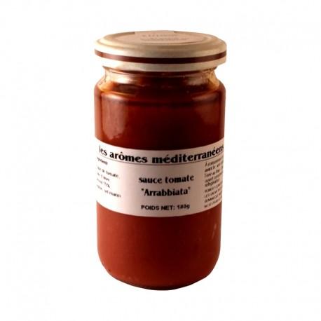 Sauce arrabiata 180 g Les arômes méditerranéens Epicerie fine, condiments, sauces et apéros