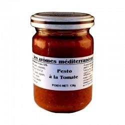 Pesto à la tomate 130 g Les arômes méditerranéens épicerie fine sauces et apéros